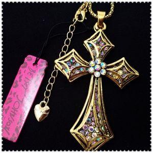 Gorgeous Betsey Johnson Cross
